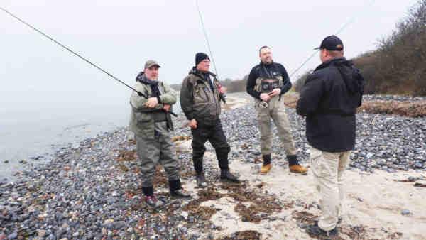 """De nye guider er under """"uddannelse"""" på kysterne på Møn."""