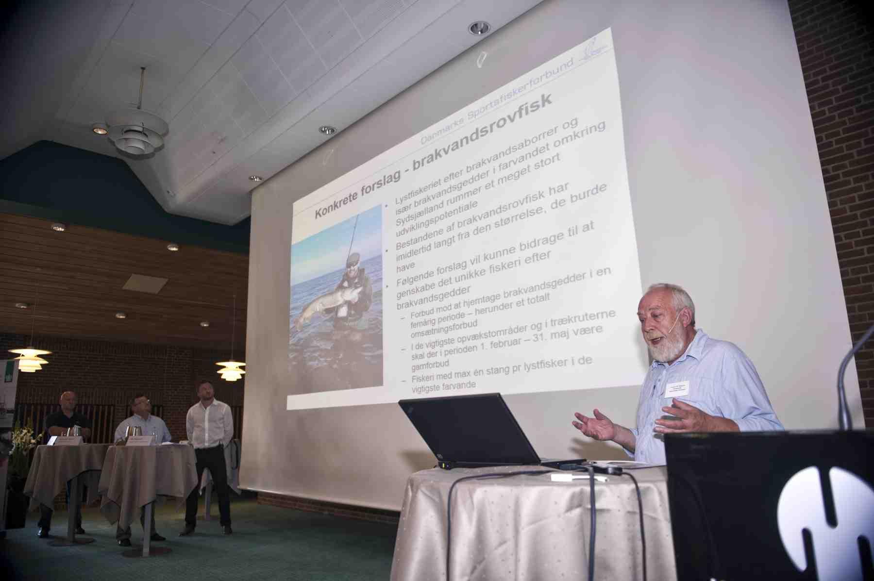 Formand Verner Hansen, fremægger Danmarks Sportfiskerforbunds visioner