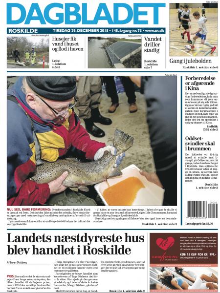 Dagbladet Roskilde, 29.december 2015