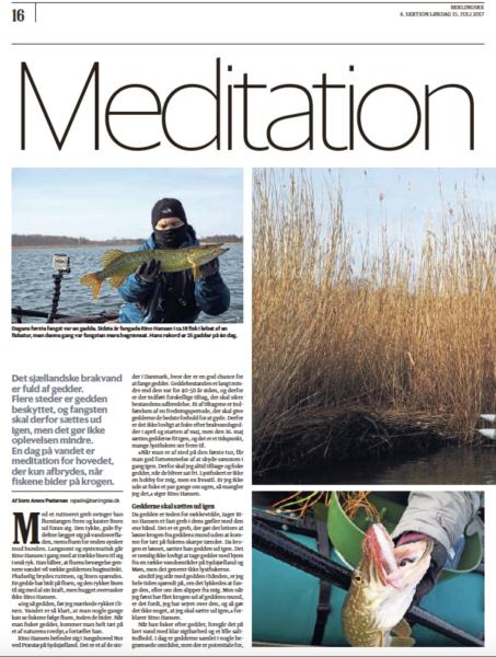 Meditation på havet, Berlingske, 15.juli 2015